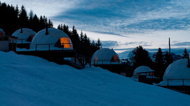 Whitepod Camping in the Swiss Alps