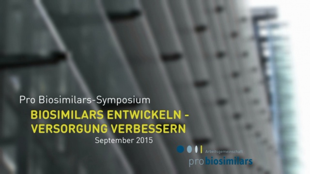 Verband Pro Biosimilars - Symposium in Berlin