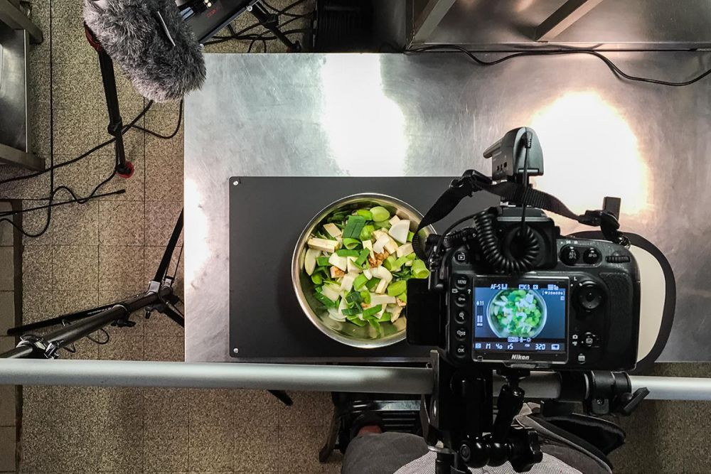 Film production TV Serie food videos